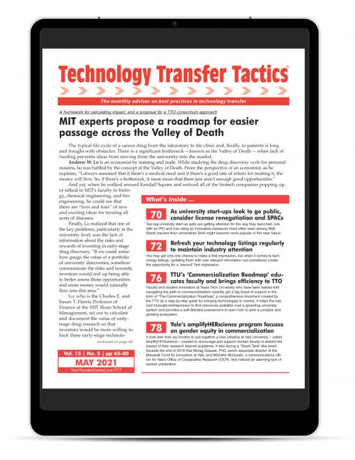 Technology Transfer Tactics, May 2021