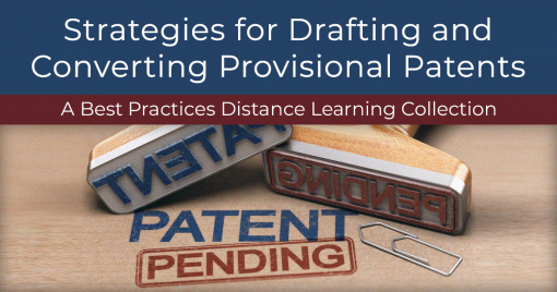 Strategies for Drafting and Converting Provisional Patents