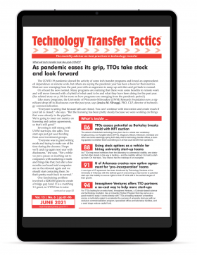 Technology Transfer Tactics, June 2021