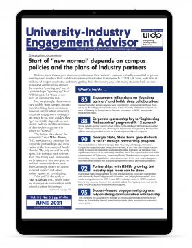 University-Industry Engagement Advisor, June 2021