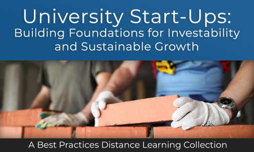 University Start-Ups: Building Foundations for Investability and Sustainable Growth