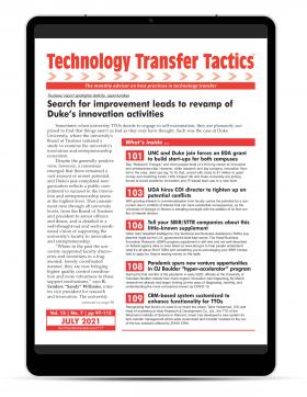 Technology Transfer Tactics, July 2021