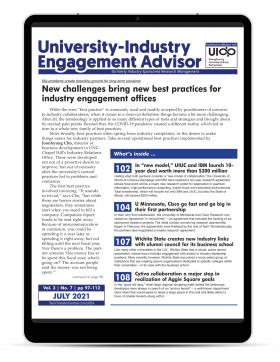 University-Industry Engagement Advisor, July 2021